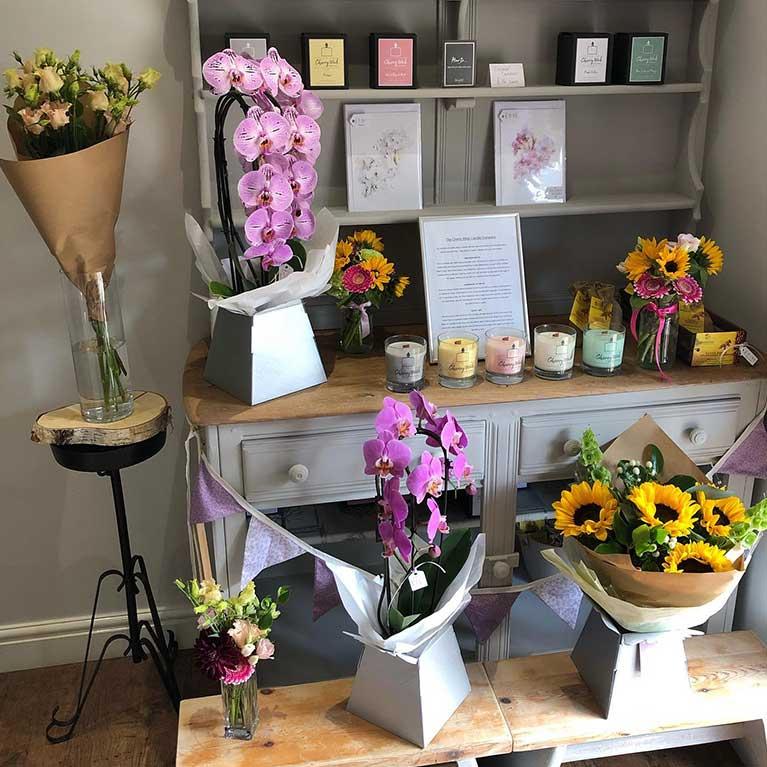 blossom branch florist shop display 1