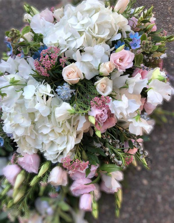 Hand Made Floral Funeral Coffin Spray